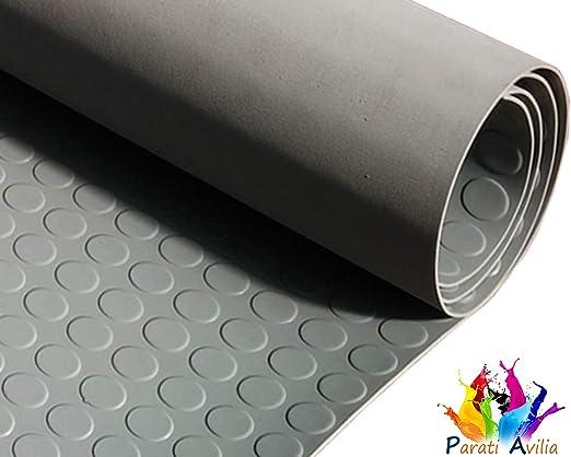 Tappeto Gomma Antiscivolo Design Millerighe Tappeti di Gomma a Metro per Industria in Vari Modelli e Misure nero Pavimenti in Gomma Isolante 100x100cm Passatoia Gomma