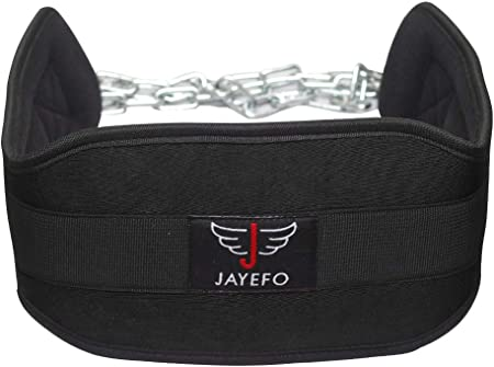 front facing jayefo industrial strength steel chain dip belt