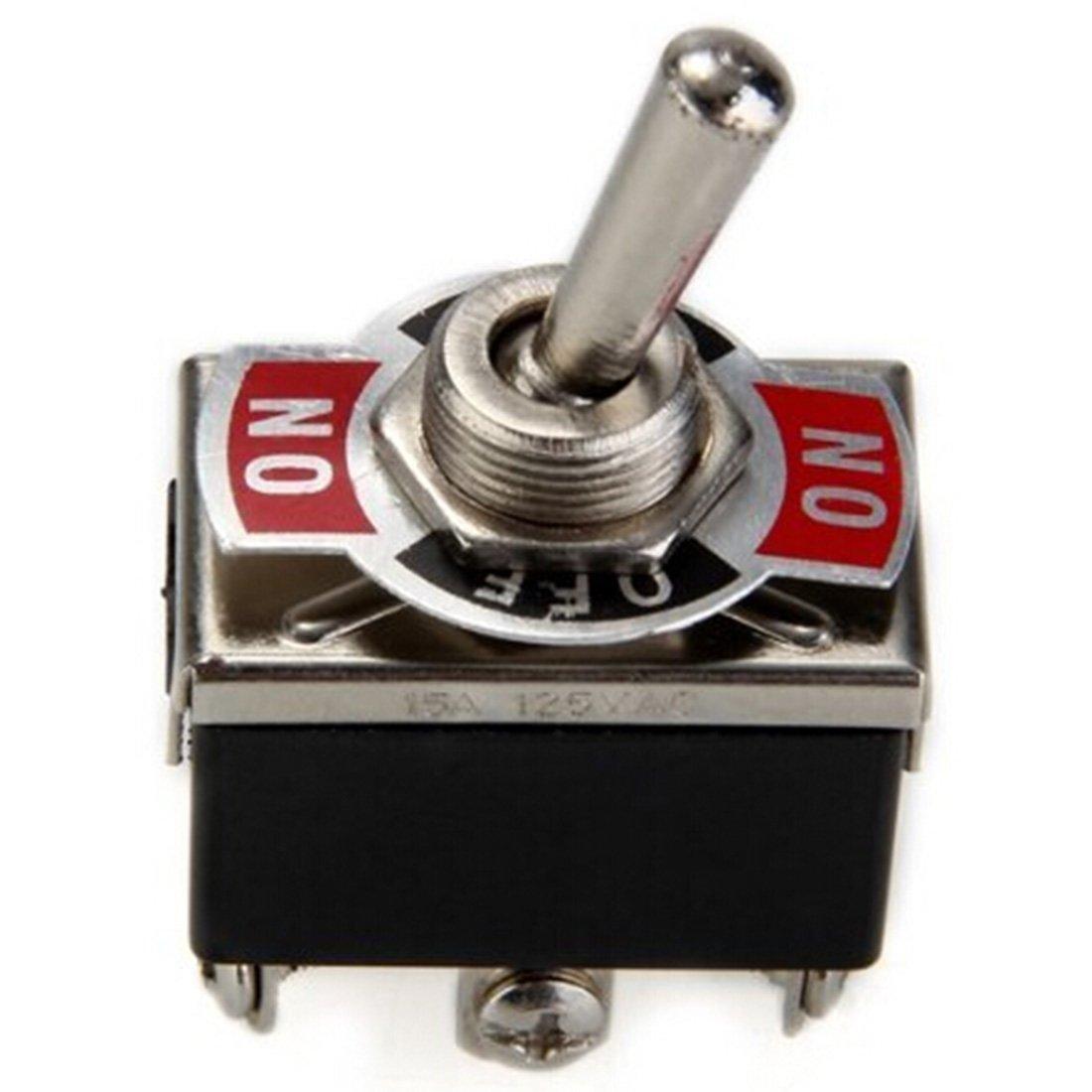 DPDT resistente para coche, interruptor de palanca metá lica de encendido/apagado, 12 V, de luz corta, barco interruptor de palanca metálica de encendido/apagado Luwu-Store