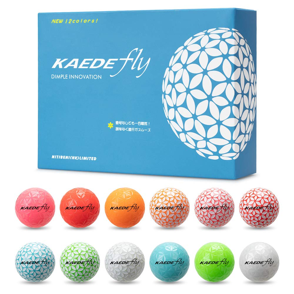 KAEDE Double Colored Distance Golf Balls One Dozen