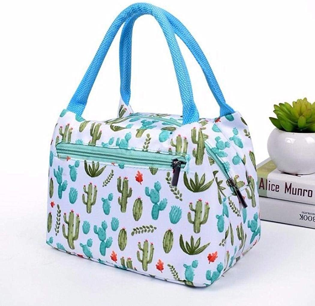 Meihet New Prints Heat Preservation Portable Zipper Closure Lunch Bag Tote Sacs isothermes