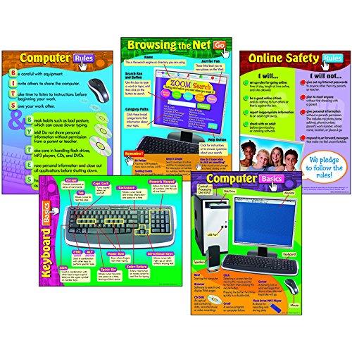 Trend Enterprises Learning Chart Combo Pack, Computer Skills (T-38903)