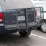 "60"" x 25"" Folding Cargo Carrier Luggage Rack Hauler Truck Car Hitch 2"" Receiver"