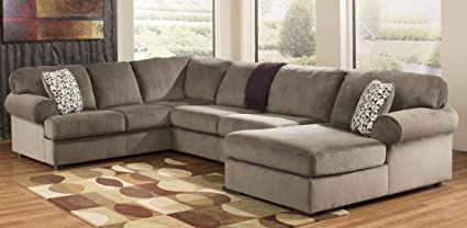 Peachy Ashley Furniture Jessa Place Dune Fabric Upholstery 3 Pc Sectional With Right Arm Facing Chaise Gmtry Best Dining Table And Chair Ideas Images Gmtryco