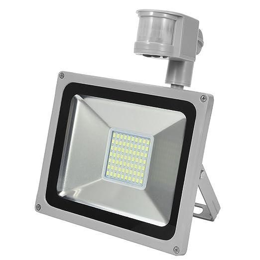 CSHITO Foco Proyector las Lámparas de Iluminación LED al Aire Libre con Sensor de Movimiento: Amazon.es: Iluminación