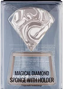 Magic Diamond Puff Sponge with Holder Air Mask Beauty Makeup Egg Wet