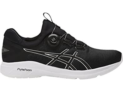 ASICS Mens Dynamis Running Shoe (8.5, Carbon/Black/White)