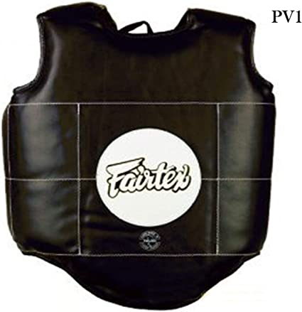 Fairtex Black Deluxe Muay Thai Boxing Body Armour Trainers Vest
