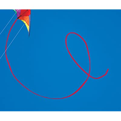 50-ft. Red Polyethelene Tubular Stunt Kite Tail: Toys & Games