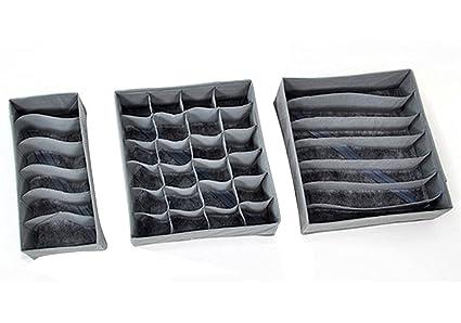 Gaorui – Cajas organizadoras plegables carbón de bambú de almacenamiento organizador caja para ropa interior sujetador