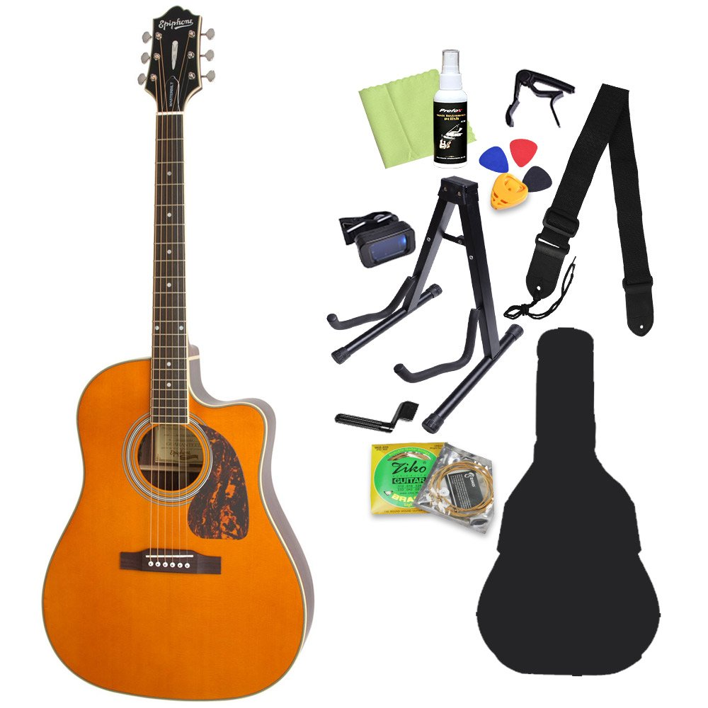 Epiphone Masterbilt AJ-500RCE Natural アコースティックギター初心者セット12点セット エピフォン   B07CNSF69P