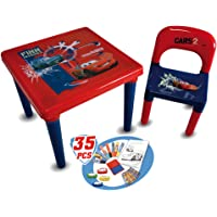 Disney CDIC016 Cars Activity Table with 35-Piece Accessory Pack