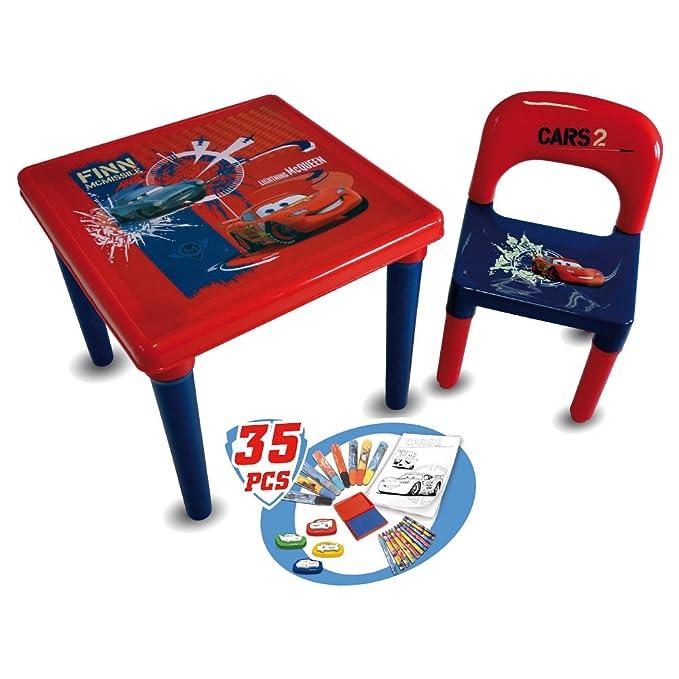 Cars DArpèje CDIC016 Mesa y Silla Infantil con Set para Colorear