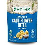 Rhythm Superfoods Crunchy Cauliflower Bites, White Cheddar, Organic & Non-GMO, 1.4 Oz, Vegan/Gluten-Free Vegetable Superfood