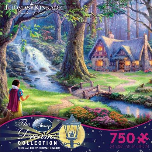 Ceaco Thomas Kinkade The Disney Dreams Collection Snow White Jigsaw Puzzle, 750 ()