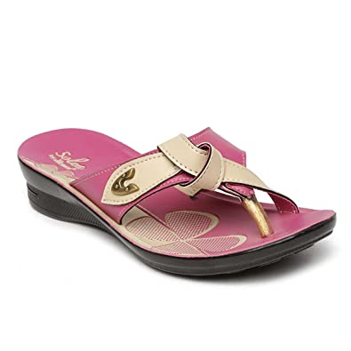bae849f3bcd7 PARAGON SOLEA Women s Pink Flip-Flops  Buy Online at Low Prices in India -  Amazon.in