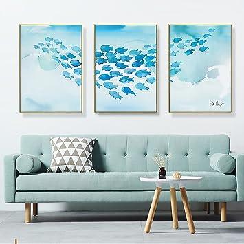 Wunderbar LongYu Wandbild Moderne Einfache Wandmalereien Wohnzimmer Dekorative  Malerei Sofa Hintergrund Wand Gemälde Modell Haus Triptychon Hotel