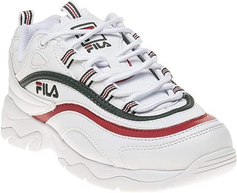 Fila Ray Fille Baskets Mode Blanc