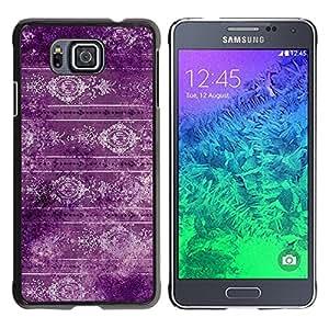 TECHCASE**Cubierta de la caja de protección la piel dura para el ** Samsung GALAXY ALPHA G850 ** Wallpaper Purple Retro Style Design Vintage