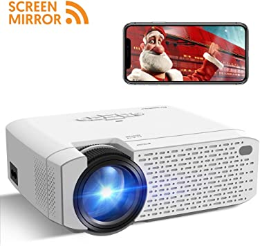 Crosstour Proyector Portátil Wi-Fi Mini Videoproyector Soporte ...