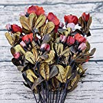 Heart-to-hear-Artificial-flowers-Simulation-Rhododendron-Roses-Bouquet-Actual-Feel-Golden-Retro-Sprigs-Home-Wedding-Party-Decoration-Gifts-FlowersBlack-Peony-Flower