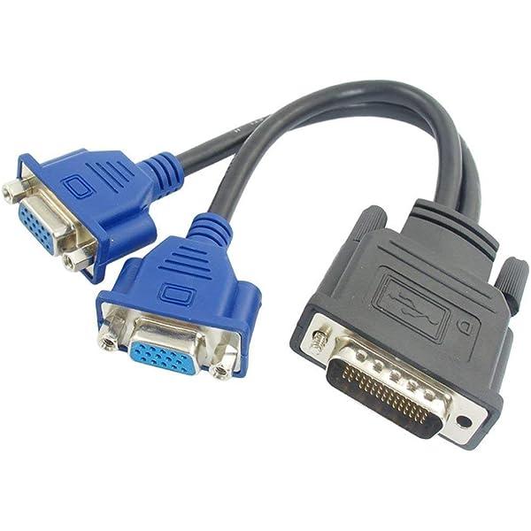 BeMatik - Cable duplicador pasivo de 1 DVI a 2 VGA: Amazon.es ...