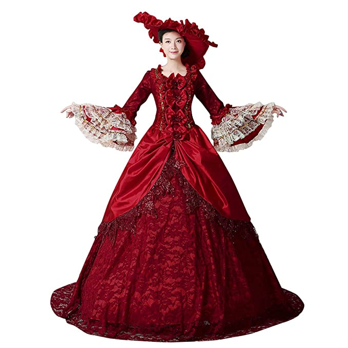 Masquerade Ball Clothing: Masks, Gowns, Tuxedos 1791s lady Womens Retro Palace Prom Victorian Dress $132.90 AT vintagedancer.com