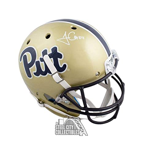 Amazon.com  James Conner Autographed Pitt Panthers Full-Size Football  Helmet - COA - JSA Certified - Autographed College Helmets  Sports  Collectibles 94581f9c6