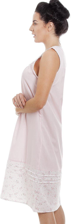 Camille Womens Lightweight Sleeveless Floral Print Nightdress