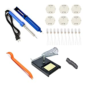 Dr.Roc GM Instrument Cluster Gauge Stepper Motor Repair Kit X27 168 (6 Motors,10 Backlight Bulbs,1 Soldering Iron,1 Soldering Iron Stand,1 Solder Sucker,1 Remove Tool,Flux Rosin Core Solder)