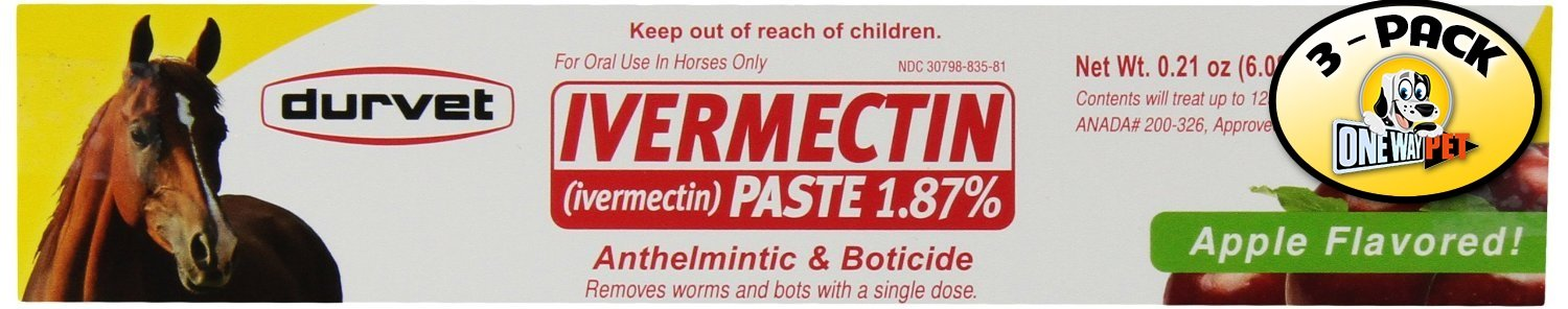 Apple Flavored Ivermectin Paste (Pack of 3)