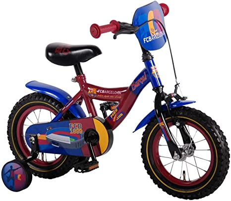 12 pulgadas bicicleta infantil FC Barcelona con ruedines Rojo Azul ...