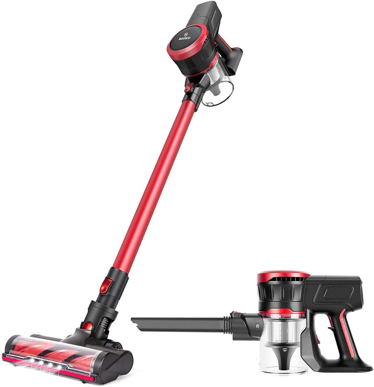 Cordless Vacuum Cleaner Cordless 17KPa Upright Stick Handheld Vacuum, 2 Speeds Suction Power, Upgraded LED Floor Head, Ultra Quiet Brushless Motor