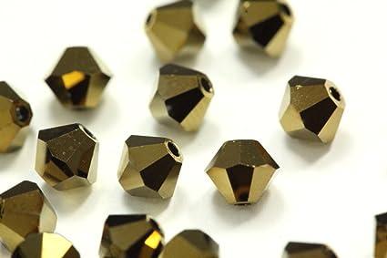 41b72efd88 100pcs Genuine Preciosa Bicone Crystal Beads 3mm Jet Brown Alternatives For  Swarovski  5301 5328