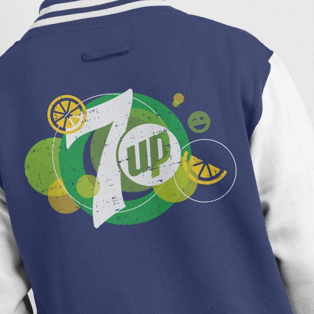 7up Popfizz Lemon Logo Men's Varsity Jacket Navy/White