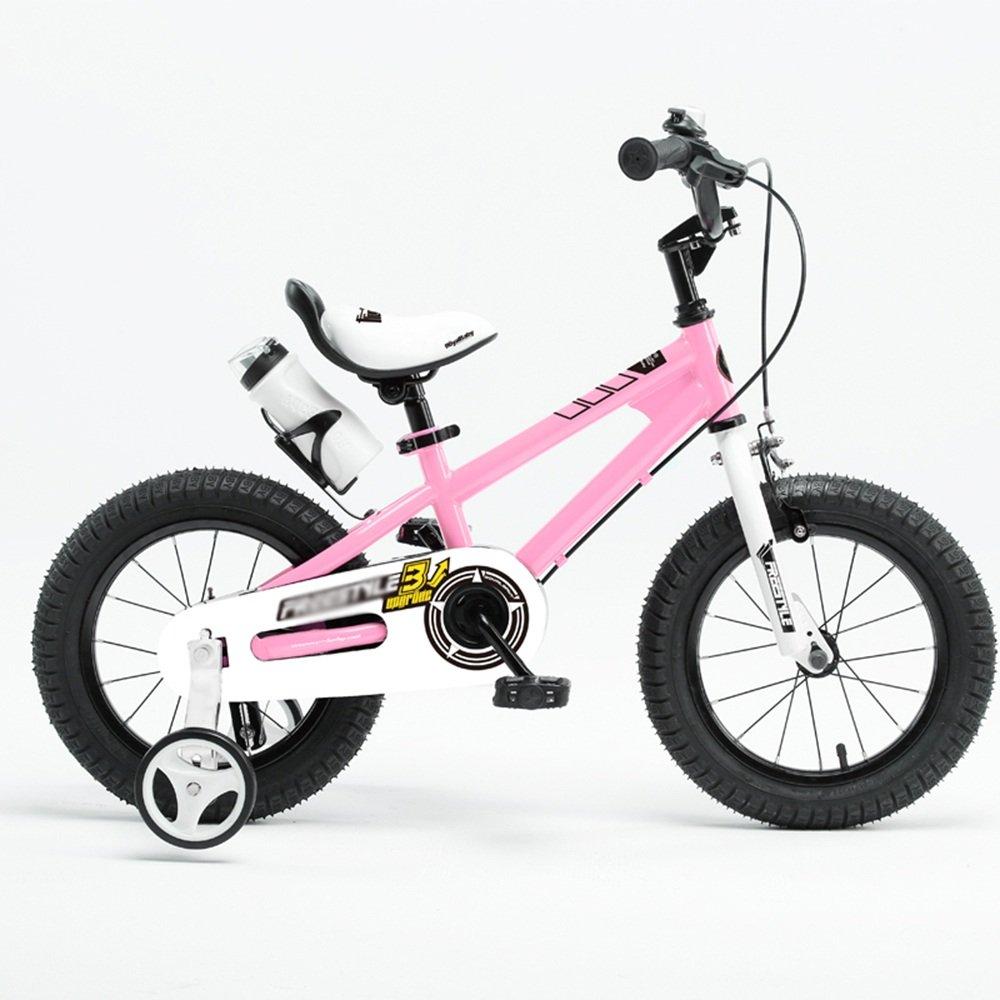 HAIZHEN マウンテンバイク 子供用自転車 ブルーグリーンオレンジレッドピンク サイズ12インチ、14インチ、16インチ、18インチ アウトドアアウト 新生児 B07C6TR5RY 18 inch|ピンク ぴんく ピンク ぴんく 18 inch