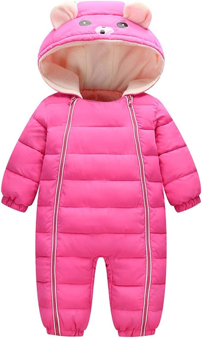 Bebone Baby Schneeanzug Jungen M/ädchen Strampler Winter Babybekleidung