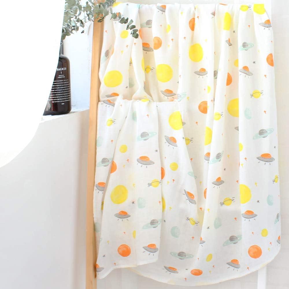 LifeTree Beb/é Muselina Swaddle Manta,Dise/ño de Arco iris Bamb/ú Algodon Muselinas 120x120 cm Mantitas para Bebes Envoltura de Muselina