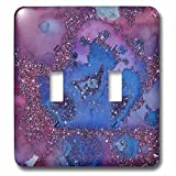 3dRose lsp_269026_2 Luxury Light Purple Ombre Gem Marble Glitter Metallic Faux Print Toggle Switch, Multicolor