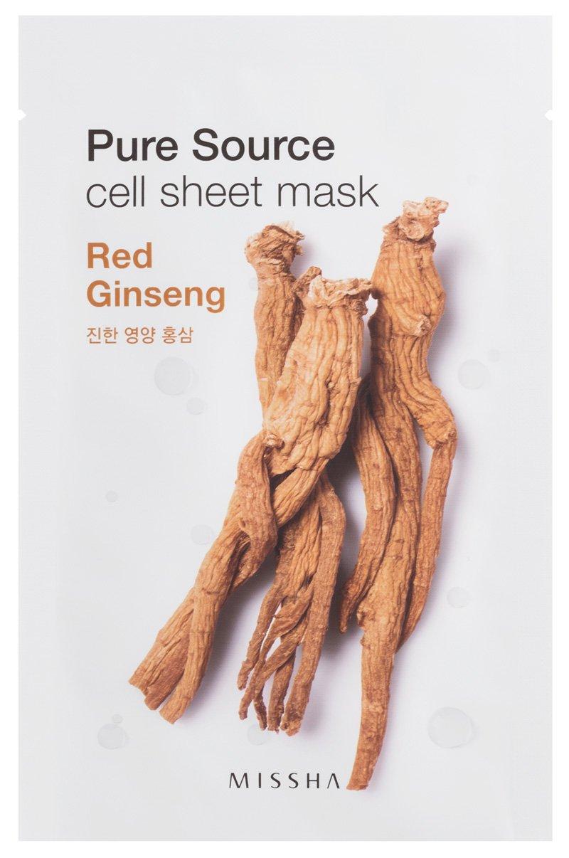 missha Pure Source Cell Sheet Mask (Red Ginseng), 1er Pack LH Brands Germany