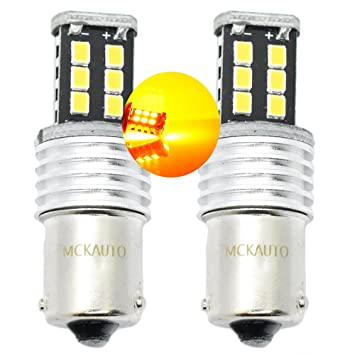 MCK Auto 581 BAU15S - Bombillas LED para intermitentes, 15SMD PY21W, con sistema bus CAN, color naranja ámbar: Amazon.es: Coche y moto
