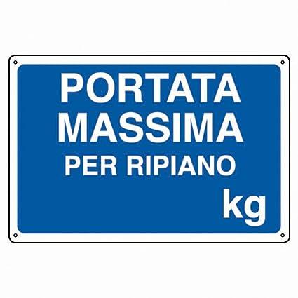Portata Massima Scaffalature.Ariete Group Cartello In Alluminio Bianco Cm 30x20 Portata