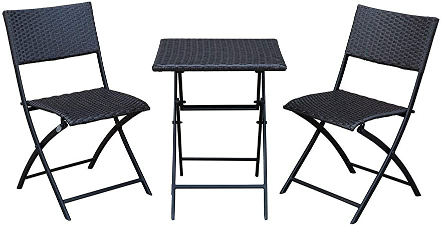 Amazon Com Sunlife Bistro Sets Outdoor Folding Table With Chairs Set Foldable Patio Bistro Garden Party Bars Cafe Chairs Table Set Teak Garden Outdoor