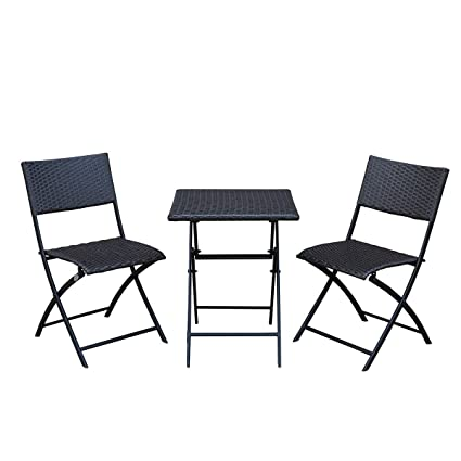 Amazoncom Sunlife Bistro Sets Outdoor Folding Table With Chairs
