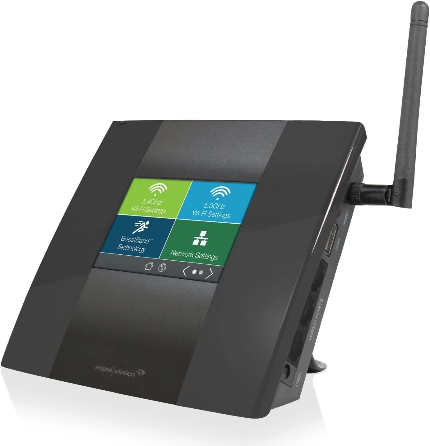 Amped Wireless High Power Touch Screen AC750 Wi-Fi Range Extender (TAP-EX2)