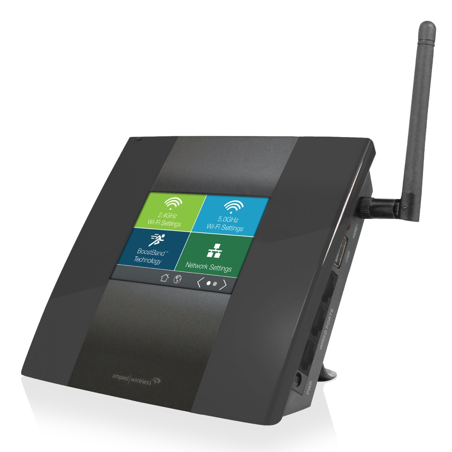 Amazon.com: Amped Wireless High Power Touch Screen AC750 Wi-Fi Range ...