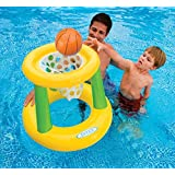 Teens Floating Intex Basketball Game Floating Hoops Pool Floats Family For Adults Kids 48 inch/4 feet Outdoor Swimming Pool Floaty Lounger Party Floatie Swim Rings Backyard Beach Lake Float Toys Hoops
