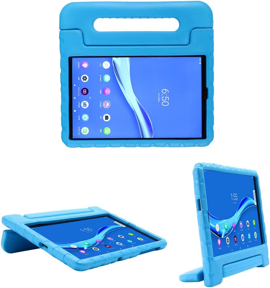 i-original Compatible with Lenovo Tab M10 FHD Plus (TB-X606F) 10.3 Inch Case,Shockproof EVA Case for Kids Bumper Cover Handle Stand,Convertible Handle Lightweight Protective Cover (Blue)