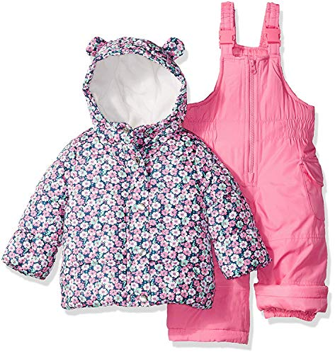 Carter's Girls' Toddler 2-Piece Heavyweight Printed Snowsuit, Pink Floral, ()