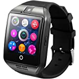 GreatCool Pantalla Arqueada NFC Bluetooth Reloj Inteligente Amarre Pulsera Smart Watch Compatible con Android Smartphone Soporta Llamada Mensaje SIM Para Smartphone Android con Dos Baterías